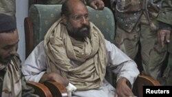 Saif al-Islam Gadafi luego de su captura en Libia el 19 de noviembre de 2011.