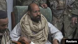 Saif al-Islam, em Novembro de 2011,altura da sua captura.