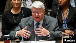 FILE - Herve Ladsous, head of the U.N. Department of Peacekeeping Operations, says those in the U.N. mission in South Sudan have had their movements restricted and have faced government harassment.