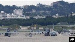 驻日本冲绳岛美军基地(资料照片)