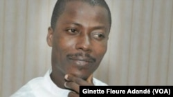 Wilfried Leandre Houngbédji, directeur de la communication de la présidence de la République, à Cotonou, le 30 avril 2019. (VOA/Ginette Fleure Adandé)