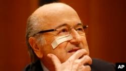 Sepp Blatter, président démissionnaire et suspendu de la Fifa