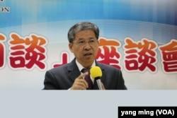 台北海洋科技大學校長唐彥博(美國之音記者楊明攝)