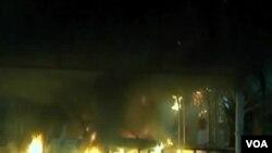 Benghazi က အေမရိကန္သံ႐ံုး အတိုက္ခိုက္ခံရစဥ္။