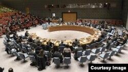 Une réunion de Conseil de sécurité des Nations unies, New York, Etats-Unis, 11 juillet 2017.