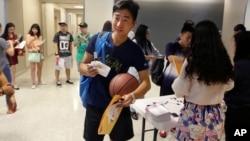 Các sinh viên Trung Quốc tại một trường Mỹ ở Richardson, Texas (tháng 8/2015)