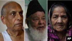 از راست به چپ: اختری بیگم (پاکستان)، شمیم الدین (پاکستان) و سوهندر نات چوپرا (هند).