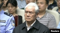 Zhou Yongkang, China's former security chief, attends his sentencing at a court in Tianjin, China.