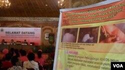 Seminar HIV/AIDS di Solo menunjukkan peningkatan jumlah kasus HIV/AIDS di kalangan ibu rumah tangga. (photo: VOA Indonesia)
