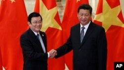 Chủ tịch Trung Quốc Tập Cận Bình kêu gọi đôi bên Việt-Trung giải quyết thỏa đáng những bất đồng, thúc đẩy quan hệ hữu nghị phát triển theo phương châm 16 chữ vàng và tinh thần 4 tốt.