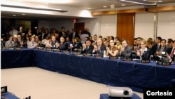 En la reunión se firmó un memorándum de entendimiento para establecer un Programa Regional Conjunto de Cooperación en Reducción de la Demanda de Drogas. [Foto: OEA]