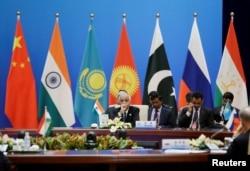 印度代表团出席2018年5月22日在北京举行的上海合作组织(SCO)安全会议的秘书会议。