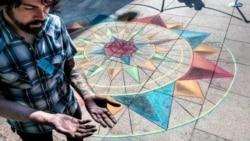 Bartender Chalks Up Unique Art