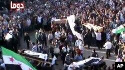 دوما میں احتجاجی مظاہرہ