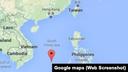 Lokasi Pulau Taiping di Laut China selatan (foto: dok).