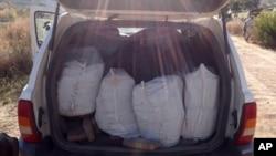 De la drogue saisie au Mexique, le 25 janvier 2018.
