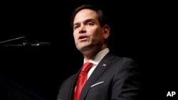 El senador republicano de la Florida, Marco Rubio afirma que la mayor amenaza para EE.UU. es el crimen organizado transnacional.