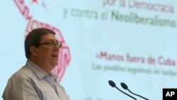 Ngoại trưởng Cuba Bruno Rodriguez.