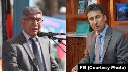 ضیأ الدین ضیأ، معاون مقام ولایت سمنگان (راست) و عبدالکریم خدام، والی برکنار شدۀ سمنگان (چپ)