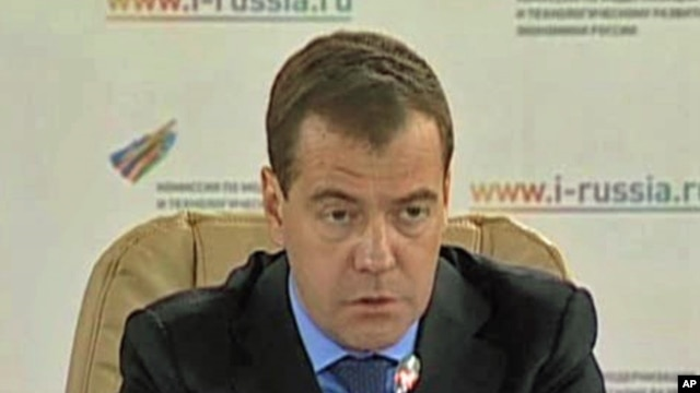 Russia's President Dmitri Medvedev