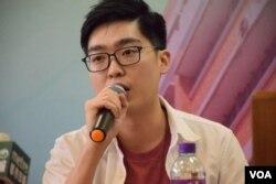 香港民族黨召集人陳浩天。(美國之音湯惠芸攝)