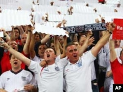 England soccer supporters are never shy to sing their team's praises......And to insult others