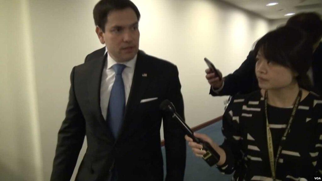 美國聯邦參議員魯比奧(Sen. Marco Rubio)6月21日接受美國之音記者採訪。