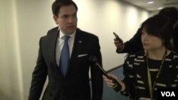 美國國會參議員魯比奧(Sen. Marco Rubio)6月21日接受美國之音記者李逸華採訪