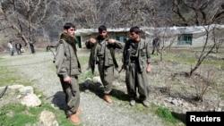 지난 3월 이라크 바그다드 북부 지역의 쿠르드족 반군.