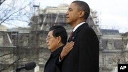 백악관에서 벌어진 환영식