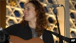 Singer-Songwriter Basya Schechter combines Jewish traditional music with a downtown rocker's sensibility in her performance.
