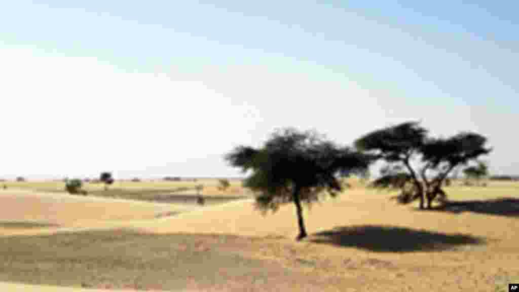 Une vue du désert mauritanien où évolu AQMI