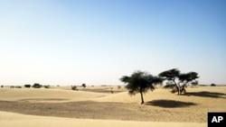 Une vue du désert mauritanien où évolue AQMI