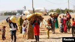 敘利亞庫爾德人逃難