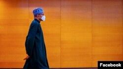 Shugaban Najeriya Muhammadu Buhari a London (Facebook/Femi Adesina)