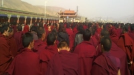 Monks gather at Dolma grounds after Jamyang Palden's self-immolation