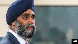 FILE - Canada's Defense Minister Harjit Singh Sajjan.