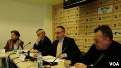 Konferencija Saveza jevrejskih opština Srbije, u Medijacentru u Beogradu, 24. januara 2019.