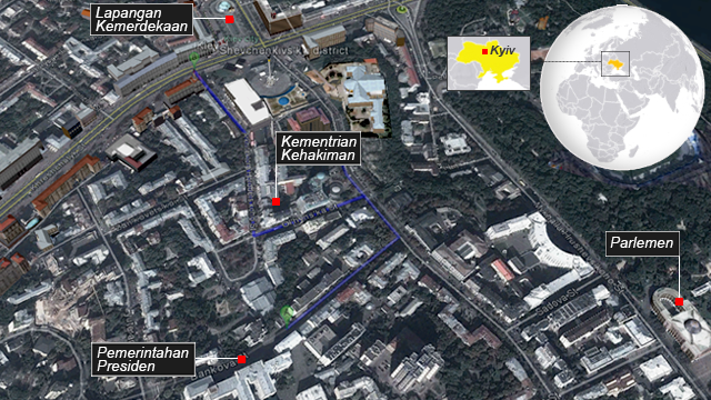 Satellite map of Kyiv