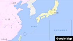Peta Kepulauan Senkaku yang dalam sengketa.