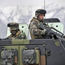 French soldiers patrol in the mountains of the valley of Kapica in Afghanistan (File)