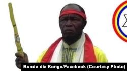 Ne Mwanda Nsemi, leader groupe mystico-politique Bundu dia Kongo (BDK), RDC, 3 mars 2017. (Facebook Bundu dia Kongo)