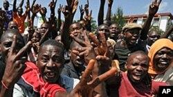 Des manifestations lors d'une protestation à Conakry, Guinée