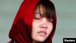 Đoàn Thị Hương rời tòa án Malaysia hôm 14/3/2019.