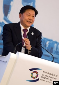 Lu Wei, China's cybersecurity and internet policy chief, is shown at the World Internet Conference in Wuzhen, China, Nov. 19, 2014. He reportedly said at a recent Russian forum that online freedom was not a right but a responsibility to be kept in check.