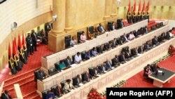 Imagem de arquivo do primeiro discurso do Presidente João Lourenço na Assembleia Nacional de Angola. 16 de Outubro 2017. Luanda