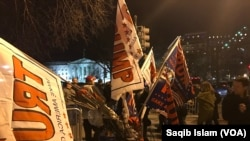 Trump Supporters, Opponents Clash on Inauguration Eve.