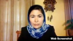 維吾爾集中營倖存者圖爾孫娜伊.孜婭吾丁(Tursunay Ziyawudun)2021年5月6日出席眾議院外交事務委員會線上聽證會。