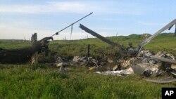 Сбитый вертолет азербайджанских ВС