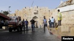 باب الاسباط یا دروازه شیرها در دیوار قدیمی اورشلیم